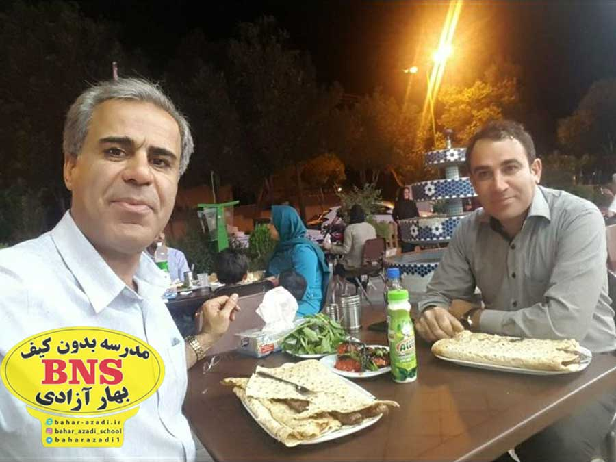 pejman irandoust - تصاویری از مدیریت مدرسه بدون کیف مریم آزادی اصفهان و مهندس پژمان ایراندوست