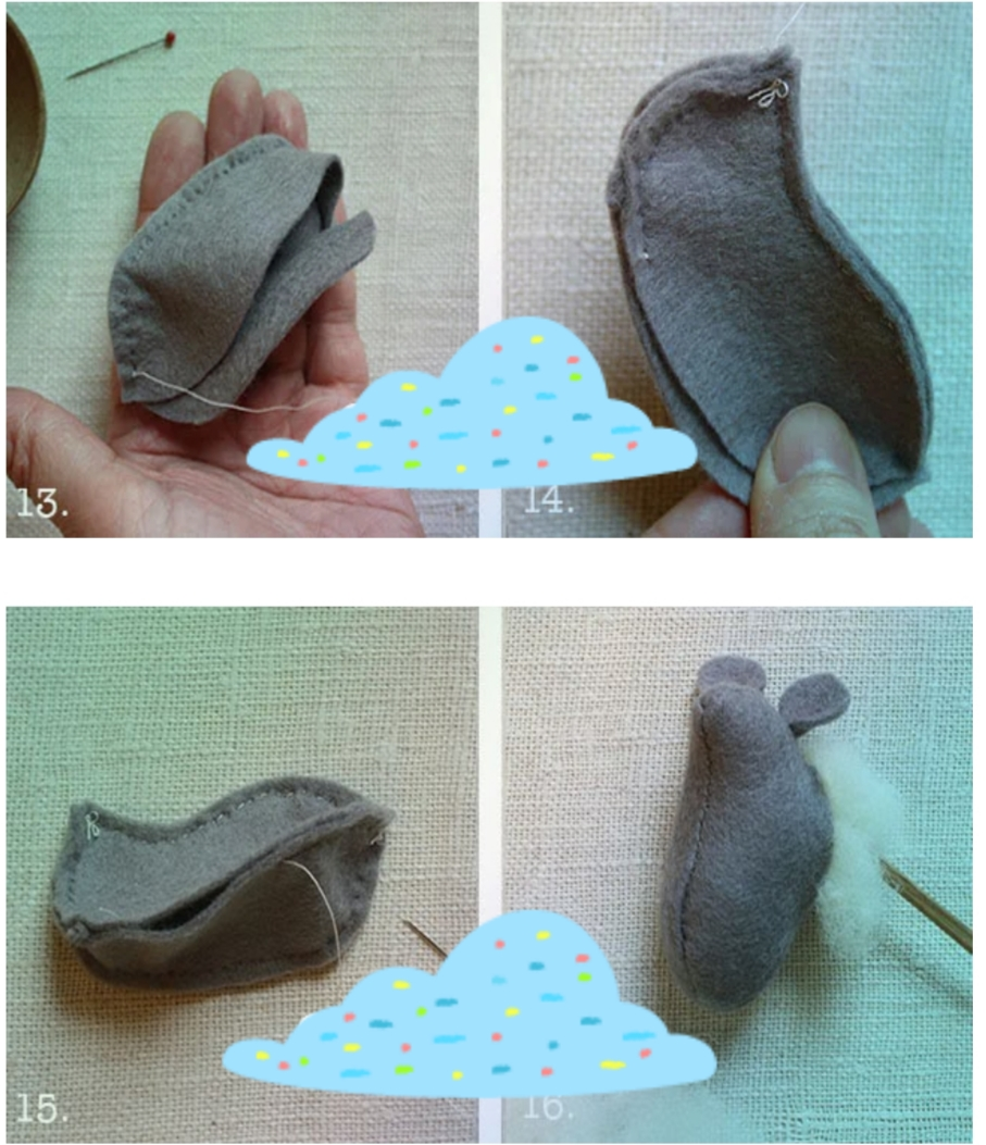 4 - آموزش ساخت موش نمدی