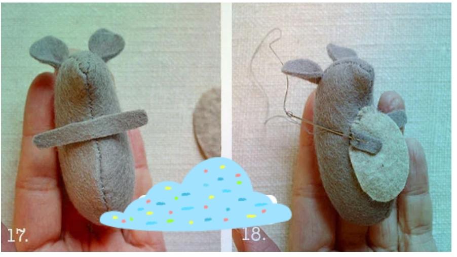 5 - آموزش ساخت موش نمدی