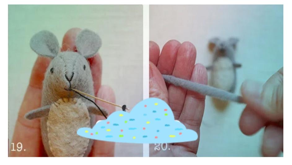 6 - آموزش ساخت موش نمدی